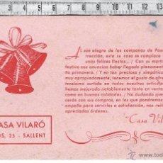 Coleccionismo Papel secante: PAPEL SECANTE PUBLICIDAD CASA VILARÓ-SALLENT.. Lote 42013632