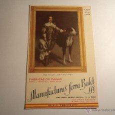 Coleccionismo Papel secante: PAPEL SECANTE CON PUBLICIDAD. MANUFACTURAS SERRA BALET. Lote 42257786