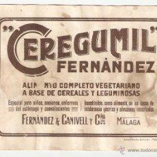 Coleccionismo Papel secante: PAPEL SECANTE CON PROPAGANDA CEREGUMIL 18X13 CENTÍMETROS . Lote 42264379