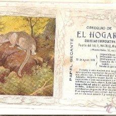 Coleccionismo Papel secante: PAPEL SECANTE OBSEQUIO DE EL HOGAR ESPAÑOL 23X10 CENTÍMETROS . Lote 42264435