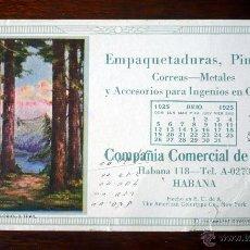 Coleccionismo Papel secante: PAPEL SECANTE PUBLICIDAD COMPAÑIA COMERCIAL CUBA HABANA -NEW YORK 1925. Lote 42386223