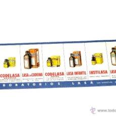Coleccionismo Papel secante: CARTEL MEDICAMENTO PAPEL SECANTE PRODUCTOS LABORATORIOS LASA. Lote 42476714