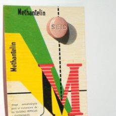 Coleccionismo Papel secante: CARTEL MEDICAMENTO PAPEL SECANTE METHANTELIN. Lote 42504860