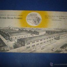 Collezionismo Carta assorbente: ANTIGUO SECANTE DE ALFONSO SOLANS VIAMONTE - FABRICA DE SOMIERES Y CAMAS METALICAS ZARAGOZA 1920-30S. Lote 43085191