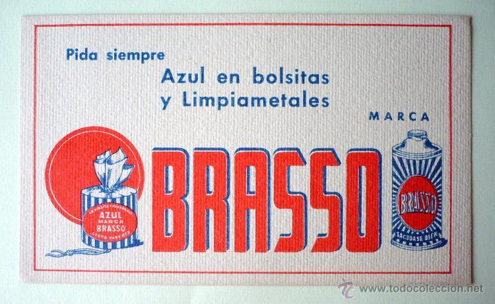 PAPEL SECANTE AZUL BRASSO EN BOLSITAS Y LIMPIAMETALES 16,5X10- (Coleccionismo - Papel Secante)
