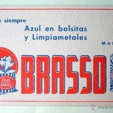 Coleccionismo Papel secante: PAPEL SECANTE AZUL BRASSO EN BOLSITAS Y LIMPIAMETALES 16,5X10-. Lote 43198957