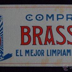 Coleccionismo Papel secante: SECANTE PUBLICITARIO DE LIMPIAMETALES BRASSO. AÑOS 50. Lote 43492609