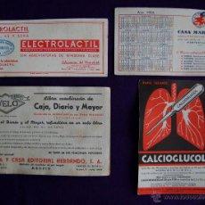 Coleccionismo Papel secante: 4 SECANTES DIFERENTES PUBLICITARIOS. AÑOS 50. (PAPEL SECANTE PUBLICITARIO). Lote 43492666