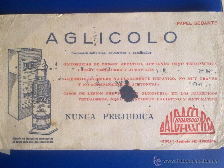 PAPEL SECANTE - PUBLICIDAD FARMACIA - (Coleccionismo - Papel Secante)