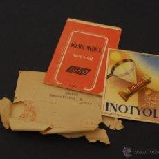 Coleccionismo Papel secante: SECANTE PUBLICITARIO DE INOTYOL, CON AGENDA Y SOBRE. LABORATORIOS AMOR GIL. JULIO 1960. Lote 45393692