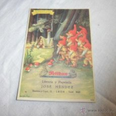 Coleccionismo Papel secante: SECANTE PELIKAN 623/2 CUENTO BLANCANIEVES LIBRERIA JOSE MENDEZ . Lote 45711775