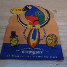 Collezionismo Carta assorbente: RARO SECANTE INSECTICIDA CAM DDT . ES MOVIL MIRAR FOTOS. Lote 45751333