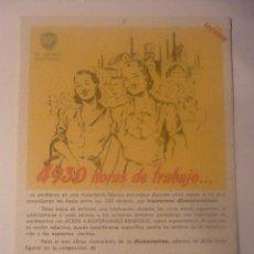 Coleccionismo Papel secante: SALDEVA PARA TRATAMIENTO DE DISMENORREA. DR ANDREU BARCELONA. AÑOS 50.. Lote 45857720