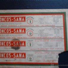Coleccionismo Papel secante: BRONCOS-SANA INYECTABLE Y JARABE . Lote 47078582