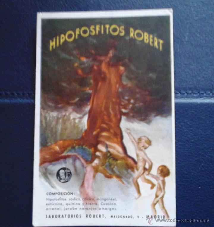 HIPOFOSFITOS ROBERT LABORATORIOS MADRID1941 (Coleccionismo - Papel Secante)