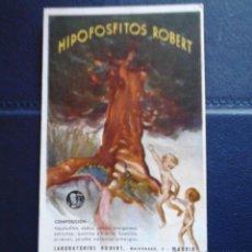 Coleccionismo Papel secante: HIPOFOSFITOS ROBERT LABORATORIOS MADRID1941. Lote 47078596