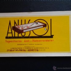 Coleccionismo Papel secante: ANUSOL SUPOSITORIOS ANTI-HEMORROIDALES . Lote 47078616