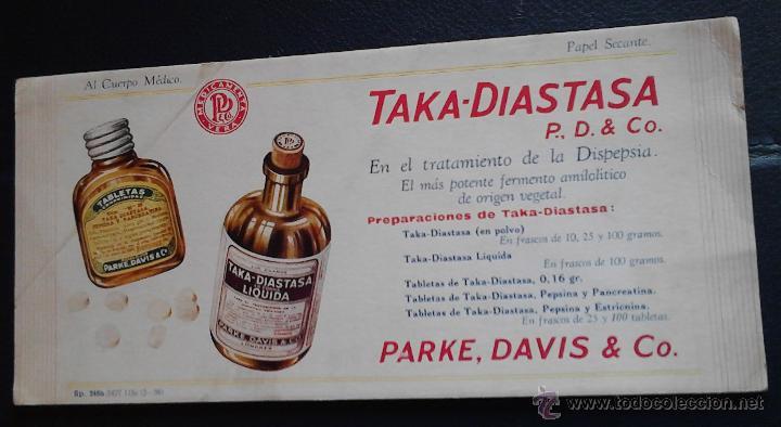 TAKA-DIASTASA P.D&CO. EN EL TRATAMIENTO DE LA DISPEPSIA (Coleccionismo - Papel Secante)