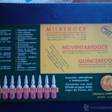 Coleccionismo Papel secante: MILBEDOCE NOVENTABEDOCE QUINCEBEDOCE INYECCION . Lote 47078700