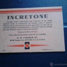 Coleccionismo Papel secante: INCRETONE G.W. CARNIRICK CO. U.S.A. Lote 47078720