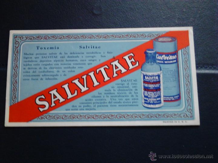 SALVITAE TOXEMIA U.S.A (Coleccionismo - Papel Secante)