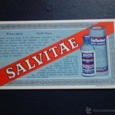 Coleccionismo Papel secante: SALVITAE TOXEMIA U.S.A. Lote 47078722