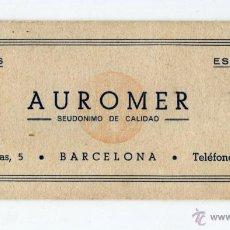 Coleccionismo Papel secante: AUROMER ESENCIAS Y PERFUMES PASAJE IGLESIAS-5 BARCELONA SECANTE CON PEQUEÑO USO. Lote 47859771
