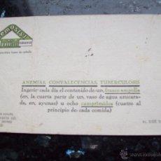 Coleccionismo Papel secante: SECANTE HEMOSTYL PARA ANEMIAS. Lote 47937196