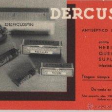 Coleccionismo Papel secante: PAPEL SECANTE : PUBLICIDAD DERCUSÁN. Lote 48356870
