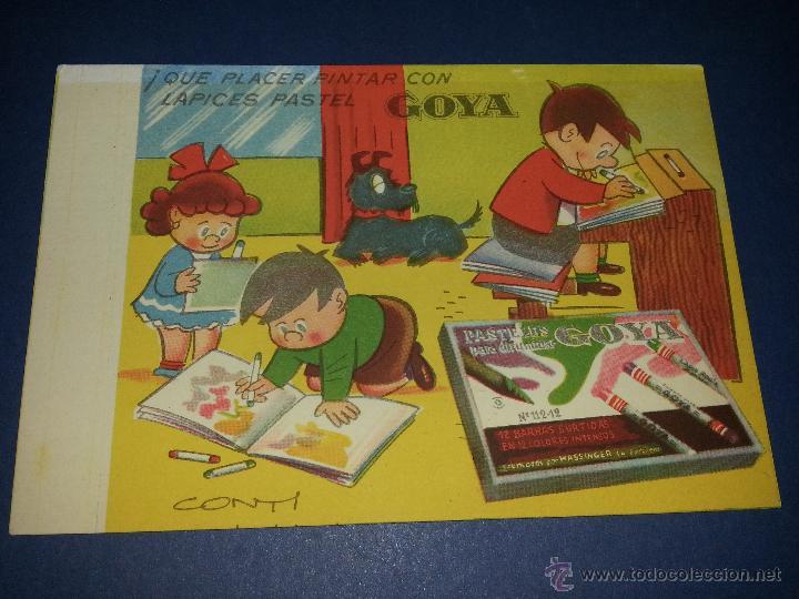 SECANTE PUBLICITARIO DE LAPICES PASTEL GOYA (Coleccionismo - Papel Secante)