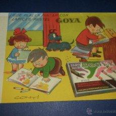Coleccionismo Papel secante: SECANTE PUBLICITARIO DE LAPICES PASTEL GOYA. Lote 209754370