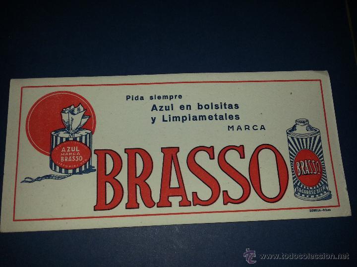 PAPEL SECANTE PUBLICITARIO BRASSO (LIMPIAMETALES) (Coleccionismo - Papel Secante)