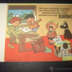 Collectionnisme Papier buvard: SECANTE BORRATINTAS EBRO. DIBUJOS CONTI. Lote 48947433