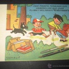 Collectionnisme Papier buvard: SECANTE PLUMA Y BOLIGRAFO WATERMAN´S Nº 3. DIBUJOS CONTI. Lote 48947665