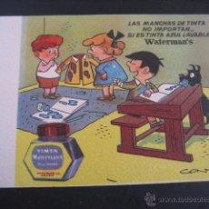 Collectionnisme Papier buvard: SECANTE TINTA WATERMAN´S Nº 1. DIBUJOS CONTI. Lote 49114875