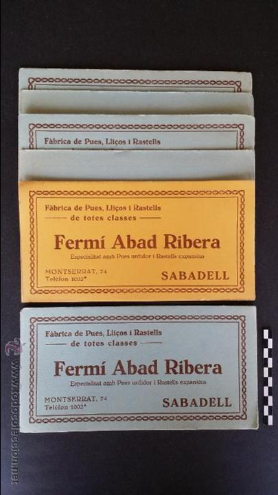 6 HOJAS PAPEL SECANTE DE FERMÍ ABAD RIBERA, SABADELL. (Coleccionismo - Papel Secante)