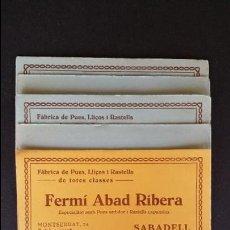 Coleccionismo Papel secante: 6 HOJAS PAPEL SECANTE DE FERMÍ ABAD RIBERA, SABADELL. . Lote 49248233