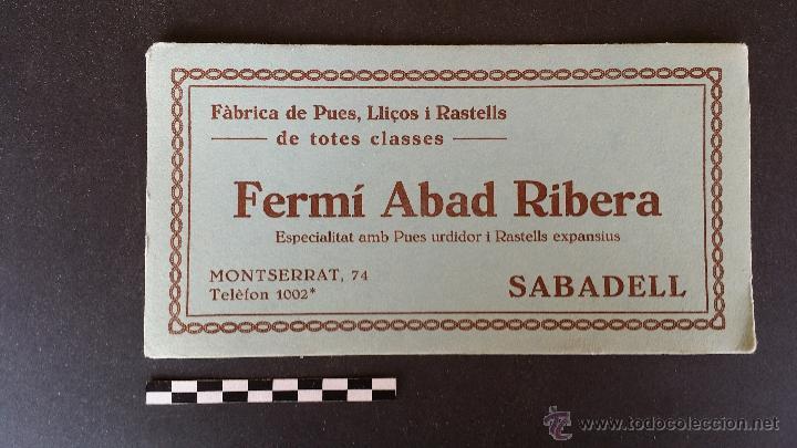 Coleccionismo Papel secante: 6 Hojas papel secante de Fermí Abad Ribera, Sabadell. - Foto 2 - 49248233