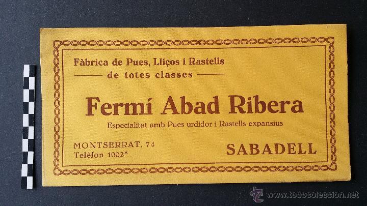 Coleccionismo Papel secante: 6 Hojas papel secante de Fermí Abad Ribera, Sabadell. - Foto 3 - 49248233