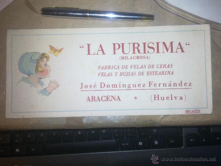 LA PURISIMA - (Coleccionismo - Papel Secante)
