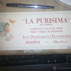 Coleccionismo Papel secante: LA PURISIMA -. Lote 49694675