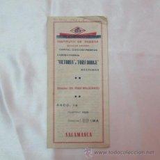 Coleccionismo Papel secante: INSTITUTO HIGIENE VICTORIA FORT DODGE SALAMANCA DR. IÑIGO MALDONADO SUERO CLARO CONCENTRADO 1938. Lote 49705840