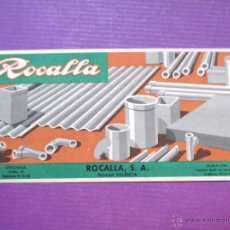 Coleccionismo Papel secante: PAPEL SECANTE PUBLICIDAD ROCALLA, VALENCIA - ORIGINAL - PS54. Lote 50220625
