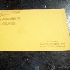 Coleccionismo Papel secante: SECANTE CARBONESIE DE LABORATORIOS TIO EN BARCELONA. Lote 50321824