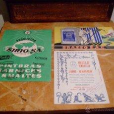 Coleccionismo Papel secante: 3 ANTIGUOS PAPELES SECANTES PUBLICITARIOS. Lote 50625000