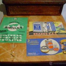 Coleccionismo Papel secante: 3 ANTIGUOS PAPELES SECANTES PUBLICITARIOS. Lote 50720628