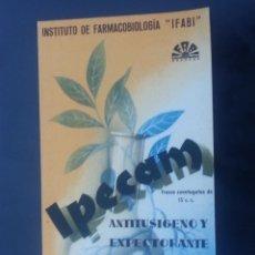 Coleccionismo Papel secante: SECANTE PUBLICITARIO DE IPECAM .IFABI. Lote 51086524