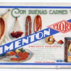 Coleccionismo Papel secante: PIMENTÓN FLORES, ESPINARDO, MURCIA. EDITORIAL ELEXPURU HERMANOS, BILBAO 14,5X9,4 CM.. Lote 51189555