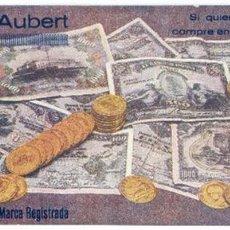 Coleccionismo Papel secante: B DESCALS AUBERT, EMBUTIDOS, JAMONES, LA FLOR DEL PIRINEO, OLOT, GIRONA 23,5X9,2 CMS.. Lote 51587863