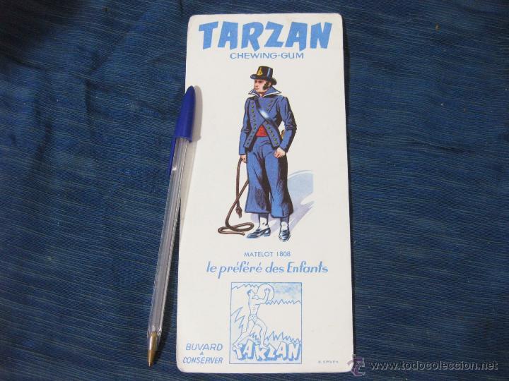PAPEL SECANTE DE CHICLES TARZAN. CHEWIN GUM (Coleccionismo - Papel Secante)
